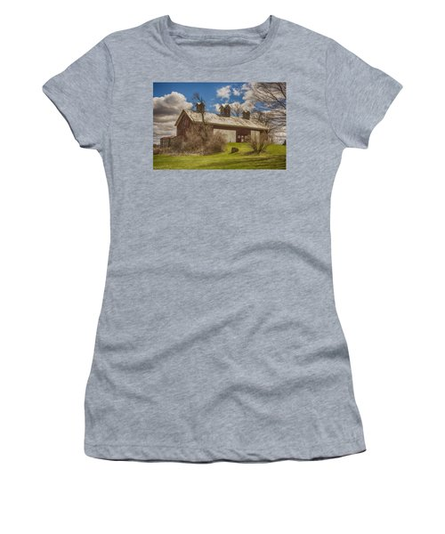 Women's T-Shirt (Junior Cut) featuring the photograph Beautiful Old Barn by JRP Photography