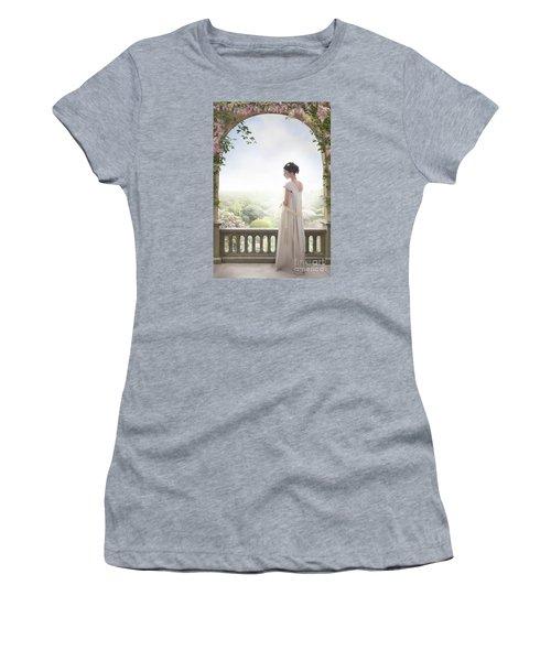 Beautiful Regency Woman Beneath A Wisteria Arch Women's T-Shirt (Athletic Fit)