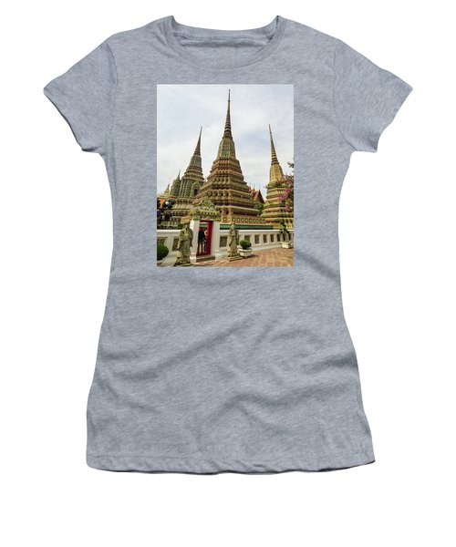 Beautiful Stupas At Wat Pho Temple Women's T-Shirt