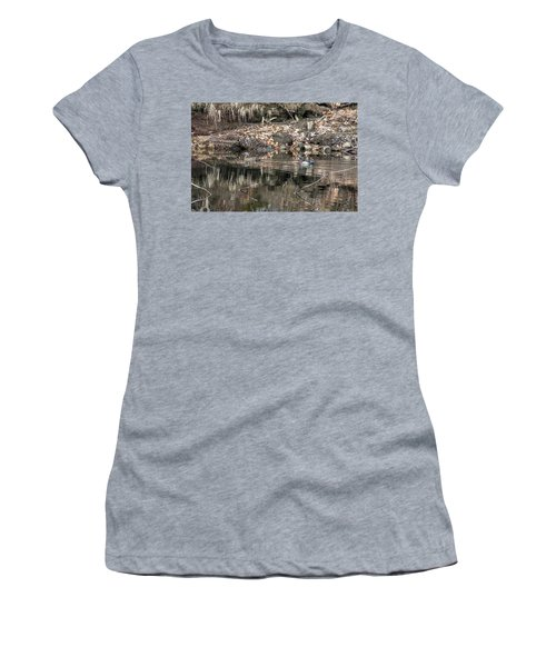Women's T-Shirt (Athletic Fit) featuring the photograph Beautiful Wood Ducks  by Betty Pauwels