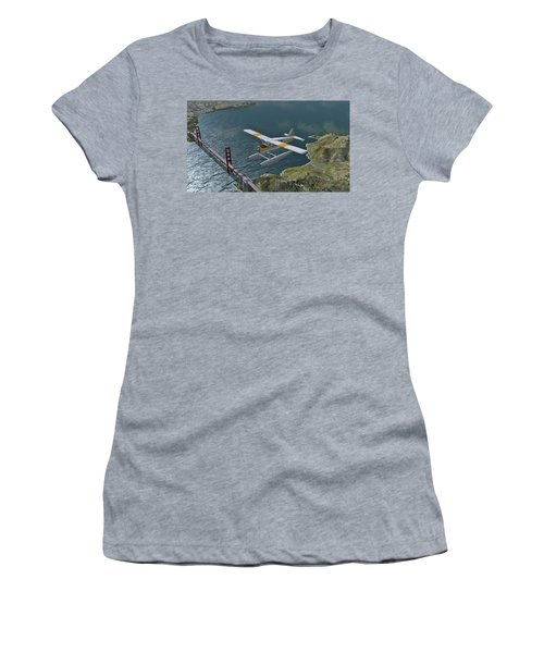 Beaver Over The Gate Women's T-Shirt (Athletic Fit)