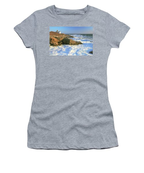 Beavertail Point And Lighthouse  Women's T-Shirt (Athletic Fit)