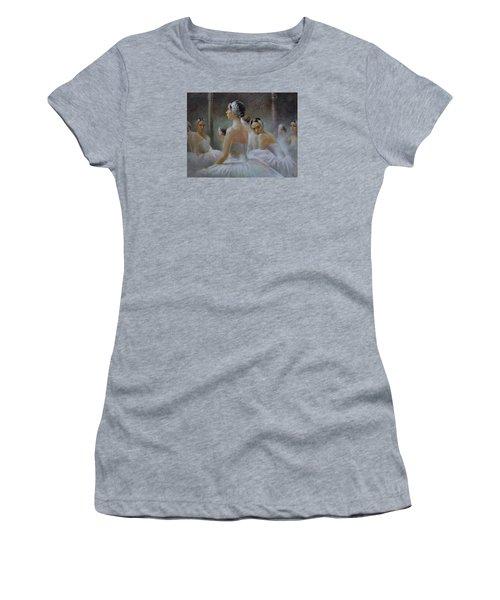 Behind The Scenes Women's T-Shirt (Junior Cut) by Vali Irina Ciobanu