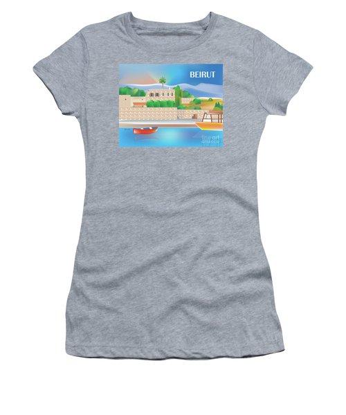 Beirut Lebanon Horizontal Scene Women's T-Shirt