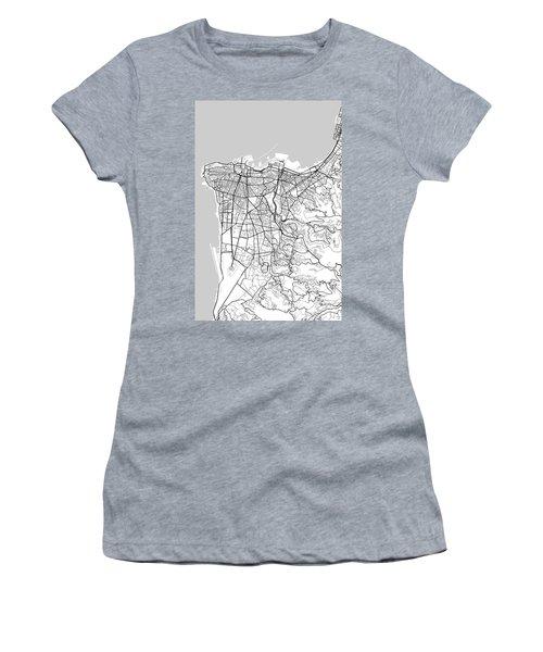 Beirut Lebanon Light Map Women's T-Shirt