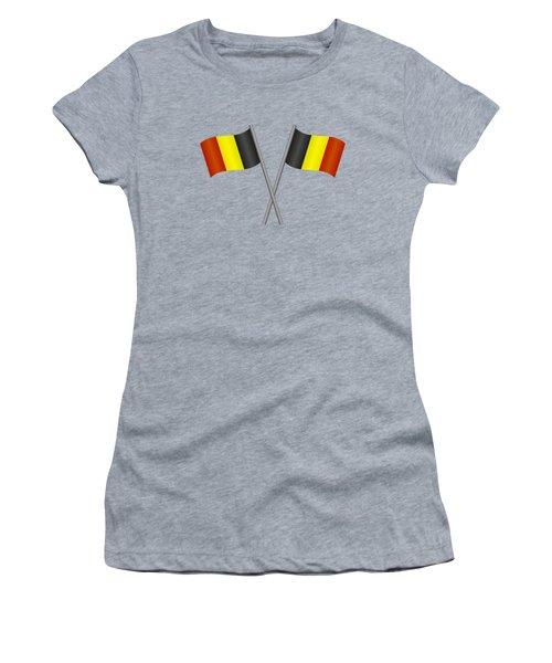 Belgium Flag Women's T-Shirt (Athletic Fit)