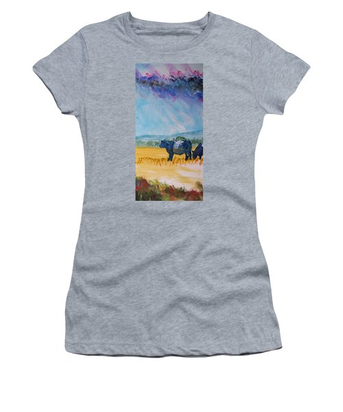 Belted Galloway Cows Narrow Painting Women's T-Shirt