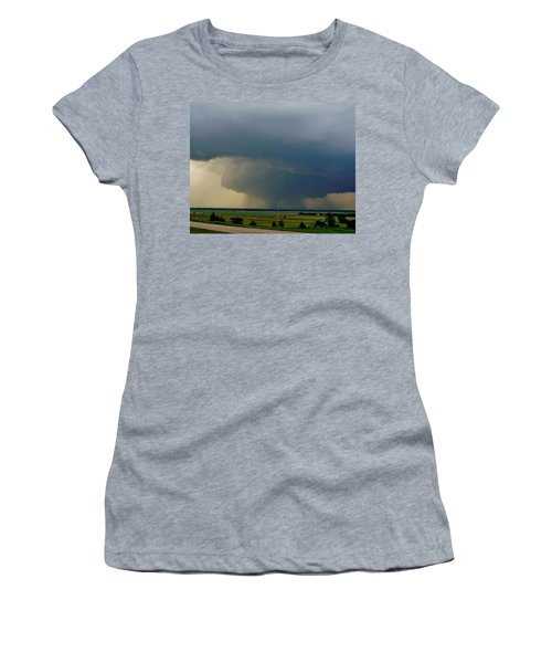 Women's T-Shirt (Athletic Fit) featuring the photograph Bennington-chapman Tornado by Ed Sweeney