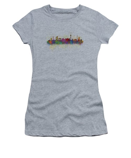 Berlin City Skyline Hq 5 Women's T-Shirt (Athletic Fit)