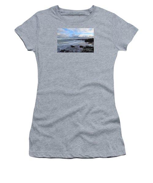 Women's T-Shirt (Junior Cut) featuring the photograph Between Cornish Storms 2 by Nicholas Burningham