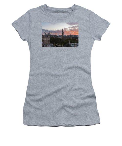 Big Ben London Sunrise Women's T-Shirt (Athletic Fit)