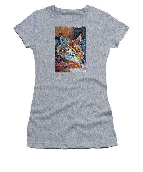 Big Cat Women's T-Shirt (Athletic Fit)