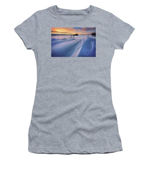 Women's T-Shirt (Junior Cut) featuring the photograph Big Drifts by Dan Jurak