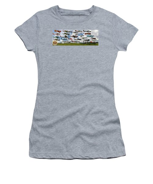 Big Muddy Fly-by Collage Women's T-Shirt (Athletic Fit)