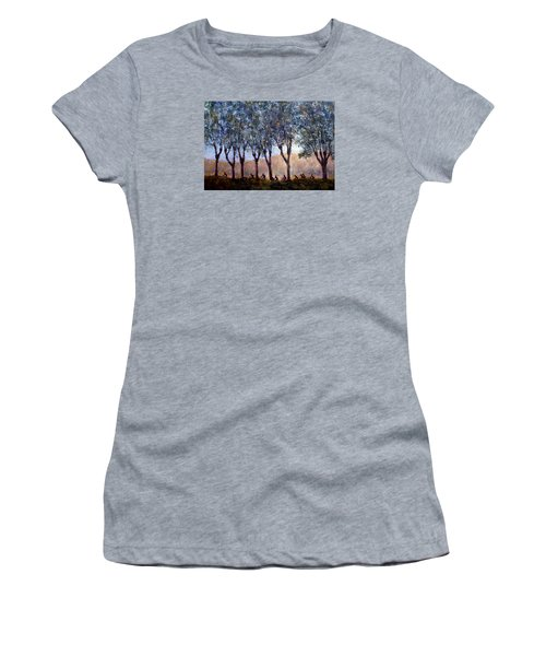 Bikers Of Burgundy Women's T-Shirt (Junior Cut) by Jill Musser