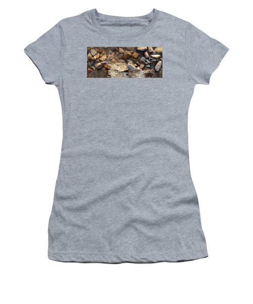 Birch Bark And Ice In The Creek Four  Women's T-Shirt (Athletic Fit)