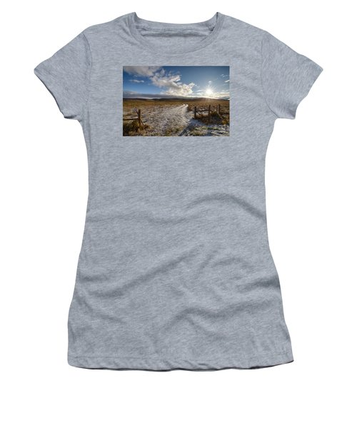 Birch Creek Valley Sun Women's T-Shirt (Athletic Fit)