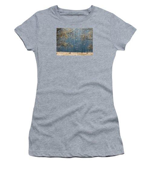 Birch Forest To The Morning Sun Women's T-Shirt (Junior Cut) by Odon Czintos