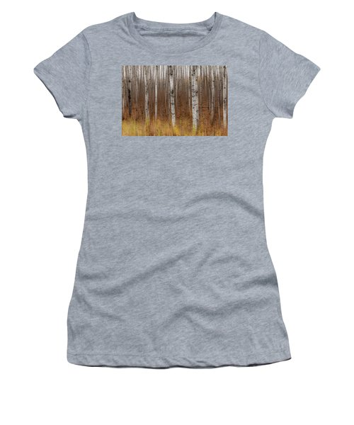Birch Trees Abstract #2 Women's T-Shirt (Athletic Fit)