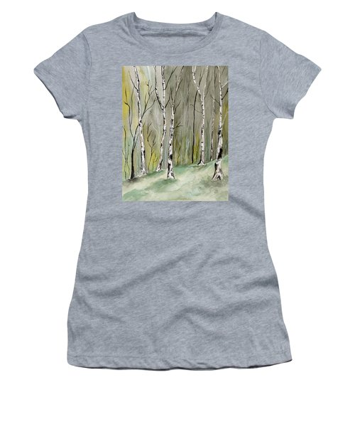 Birches Before Spring Women's T-Shirt (Athletic Fit)