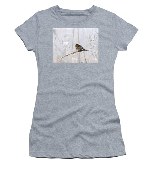 Bird In First Frost Women's T-Shirt (Athletic Fit)