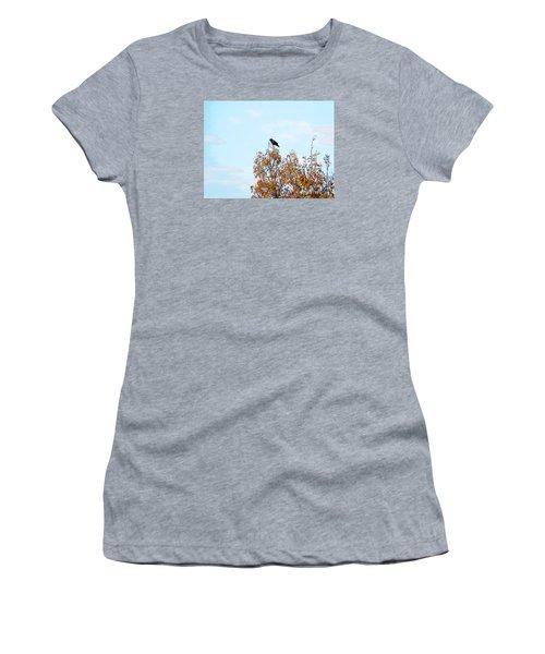 Bird On Tree Women's T-Shirt (Junior Cut) by Craig Walters