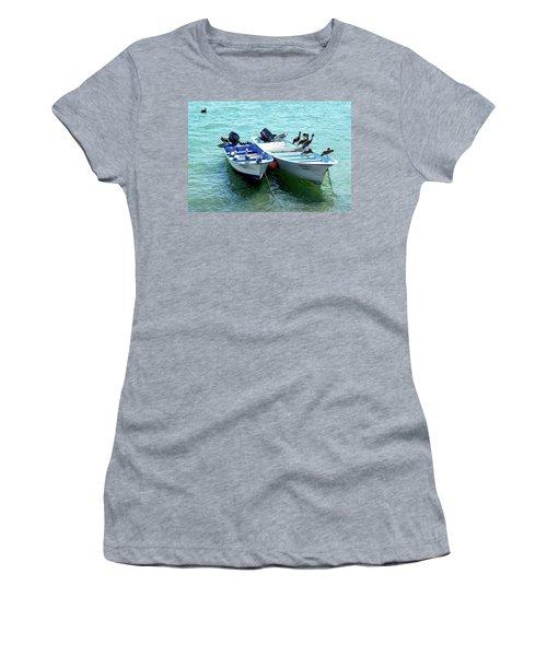 Birds Sunbathing  Women's T-Shirt (Junior Cut) by Haleh Mahbod