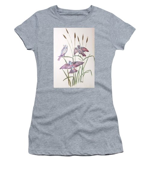 Birds Women's T-Shirt (Athletic Fit)