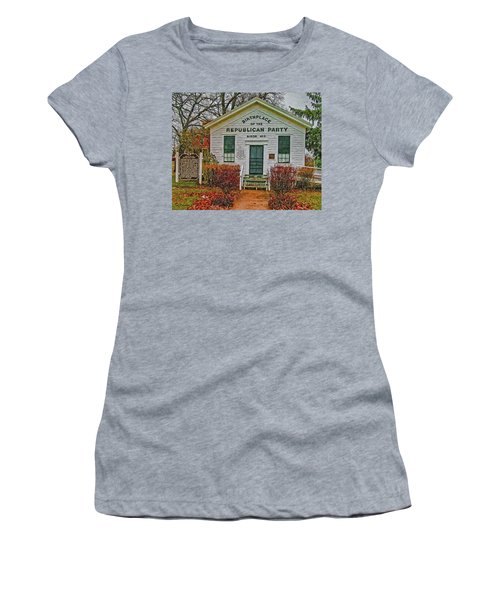 Birthplace Republican Party Women's T-Shirt (Junior Cut) by Trey Foerster