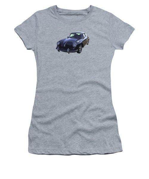 Black 1962 Porsche 356 E Sportscar  Women's T-Shirt (Junior Cut) by Keith Webber Jr