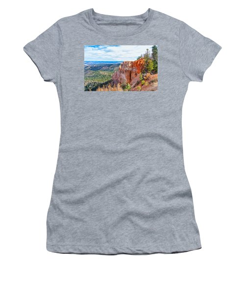 Women's T-Shirt (Athletic Fit) featuring the photograph Black Birch Canyon by John M Bailey