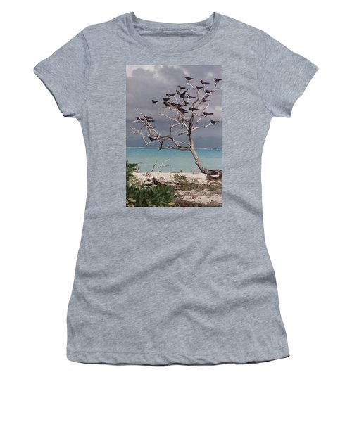 Women's T-Shirt (Junior Cut) featuring the photograph Black Birds by Mary-Lee Sanders