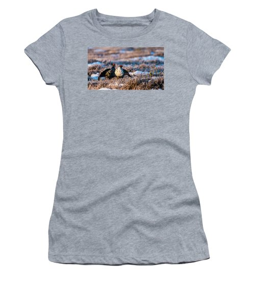Women's T-Shirt (Junior Cut) featuring the photograph Black Grouses by Torbjorn Swenelius