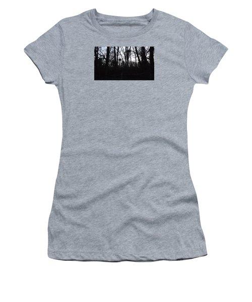 Women's T-Shirt (Junior Cut) featuring the photograph Black Woods by Don Koester