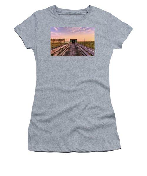 Women's T-Shirt (Junior Cut) featuring the photograph Blackwater Blind by Jennifer Casey