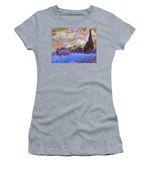 Blend 20 Van Gogh Women's T-Shirt (Junior Cut) by David Bridburg