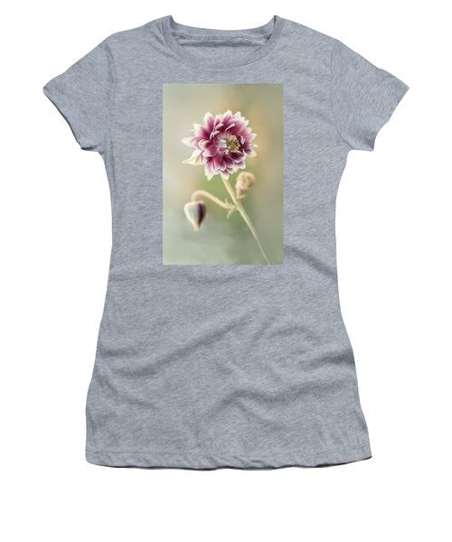 Blooming Columbine Flower Women's T-Shirt (Athletic Fit)