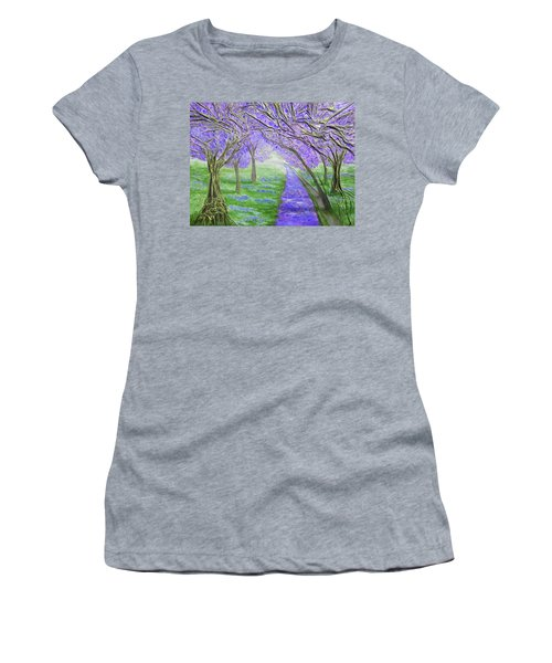 Women's T-Shirt (Junior Cut) featuring the mixed media Blossoms by Angela Stout