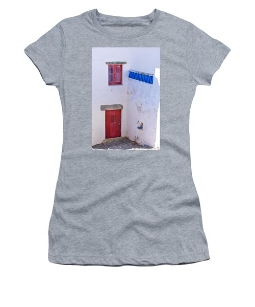 Blue And Red Women's T-Shirt (Junior Cut) by Edgar Laureano