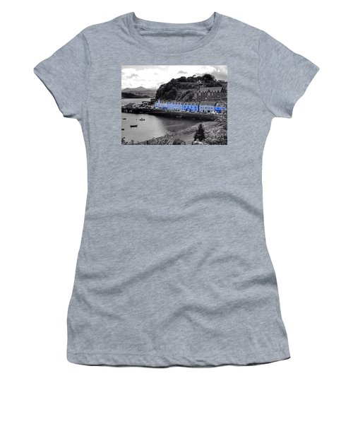 Blue Cottages At Portree Harbour 5 Women's T-Shirt (Athletic Fit)