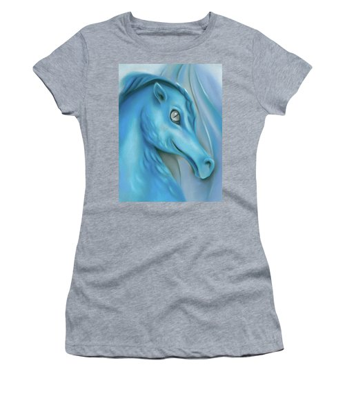 Women's T-Shirt featuring the pastel Blue Dragon by MM Anderson