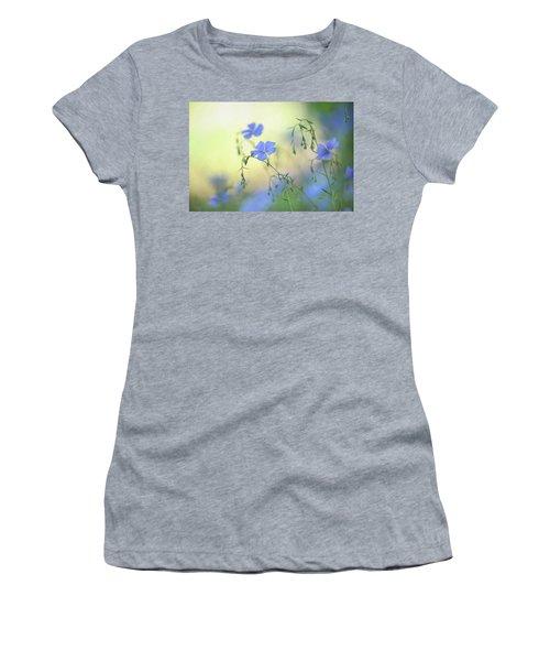 Blue Flex Flower Women's T-Shirt