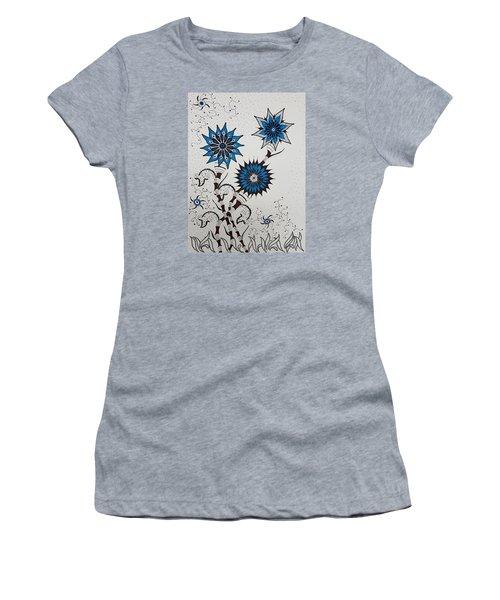 Blue Flower 4 Women's T-Shirt (Athletic Fit)
