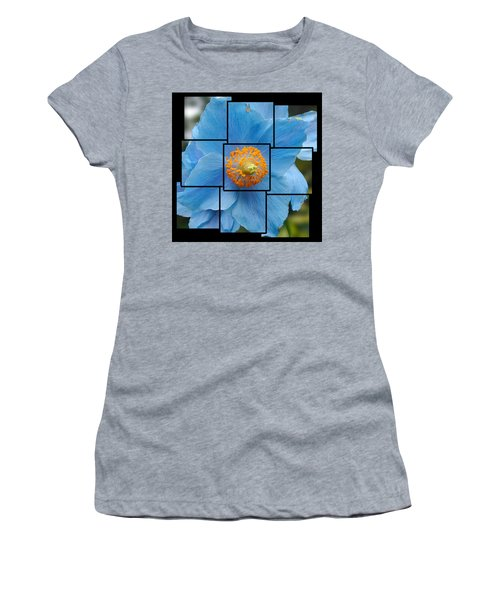 Blue Flower Photo Sculpture  Butchart Gardens  Victoria Bc Canada Women's T-Shirt (Athletic Fit)