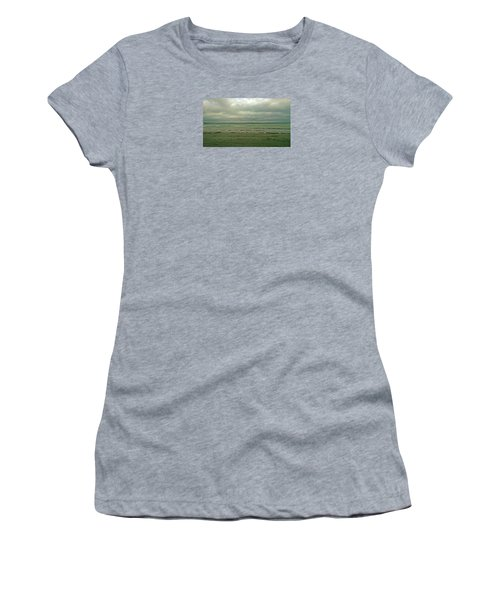 Blue Green Grey Women's T-Shirt (Athletic Fit)