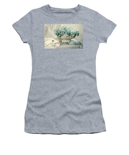 Blue Heart Women's T-Shirt (Junior Cut) by Diana Angstadt