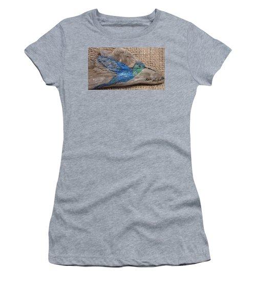 Blue Hummingbird Women's T-Shirt (Athletic Fit)