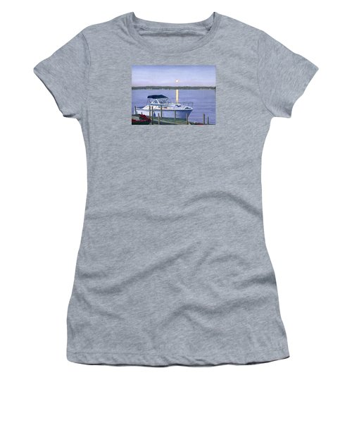 Women's T-Shirt (Junior Cut) featuring the painting Blue Moon by Lynne Reichhart