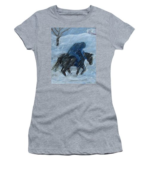 Blue Rider On Horse Women's T-Shirt