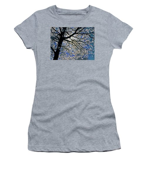 Women's T-Shirt (Junior Cut) featuring the photograph Blue Skies Smiling At Me by Linda Unger